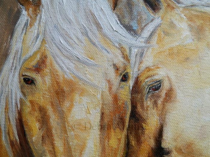 embrace horse oil painting3700debra